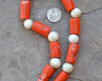 Coral & Naga Beads