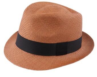 Genuine Panama Cubano, Brown trilby, women's or men's hat