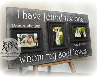 Unique Wedding Gift, Personalized Wedding Gift, Anniversary Gift, Wedding Sign, Wedding Frame, Picture Frame, I Have Found 16x30