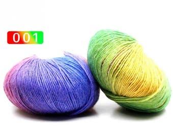 2 - Rainbow Wool Anti-pilling Yarn Skeins - #1