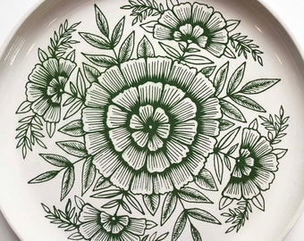 Hand Painted Ceramic Platter