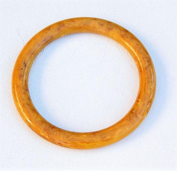 Bakelite Bangle / Butterscotch Marble