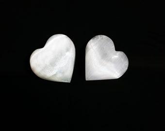 Selenite heart / selenite / selenite healing / crystals