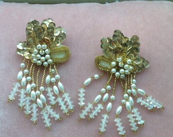 Beaded and sequined earrings.......studs......dangling