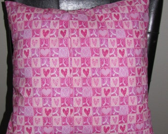 Pink Ribbon Breast Cancer Awareness pillow Removable Cover Sham Travel Home decor Toddler Pet Bedroom