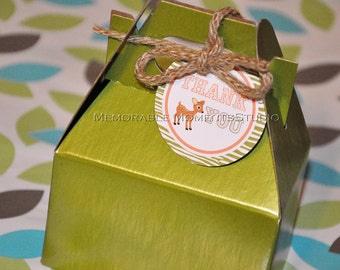 INSTANT DOWNLOAD - Printable Favor Tags - Little Outdoorsman Party Collection - Memorable Moments Studio