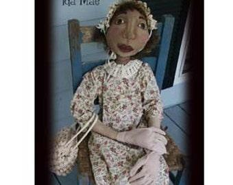 Large 48 inch Primitive Folk Art Doll - Ida Mae ePattern