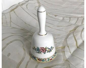 Vintage Coalport 'Ming Rose' Bone China Bell, Oriental, Floral, Made in England