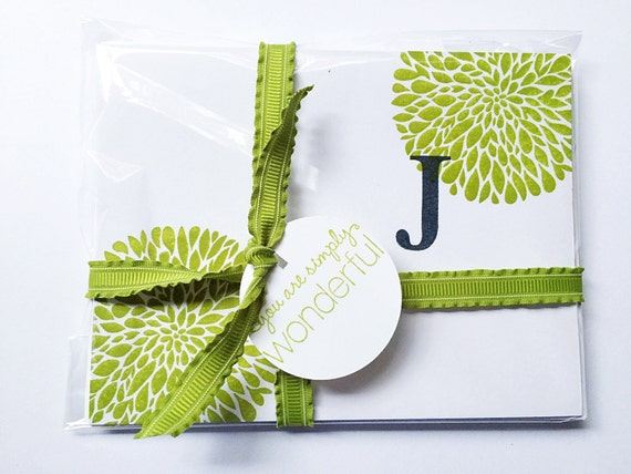 Secret Santa Gift. Personalized Gift For Women. Letter Stationery Gifts for Her. Monogrammed Gifts. Initial Notecards. Gifts for Girlfriend