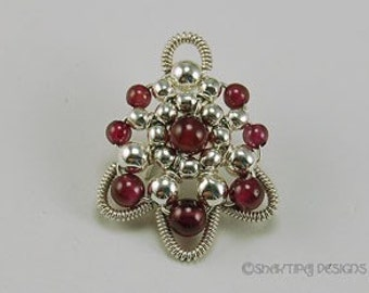 Victorian Fan - Instant Download Wire Jewelry Tutorial Instruction PDF