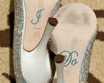 I DO Shoe Stickers in Blue