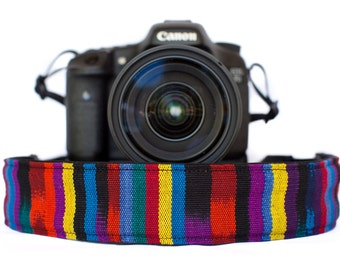 Bohemian Camera Strap Fruit Stripe