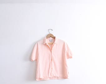 Pink Gingham 90s Blouse
