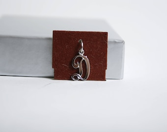 Beau Charm Beaucraft Sterling Silver Letter D for Charm Bracelet