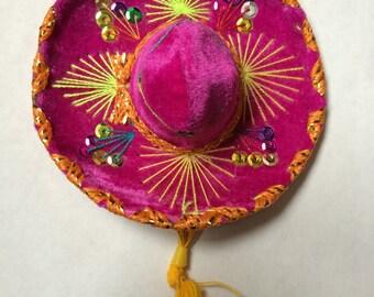MH002 Mexican Mini Colorful Sombrero Charro Hat