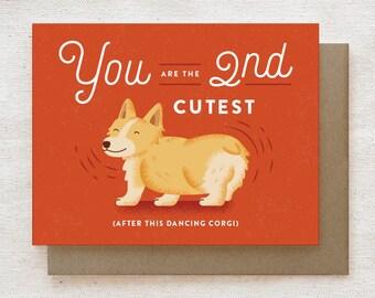 Funny Valentine's Card, Anniversary Card, Love Card, Funny Corgi Card, Corgi Gifts, Corgi Butt, Funny Card for Boyfriend - Corgi