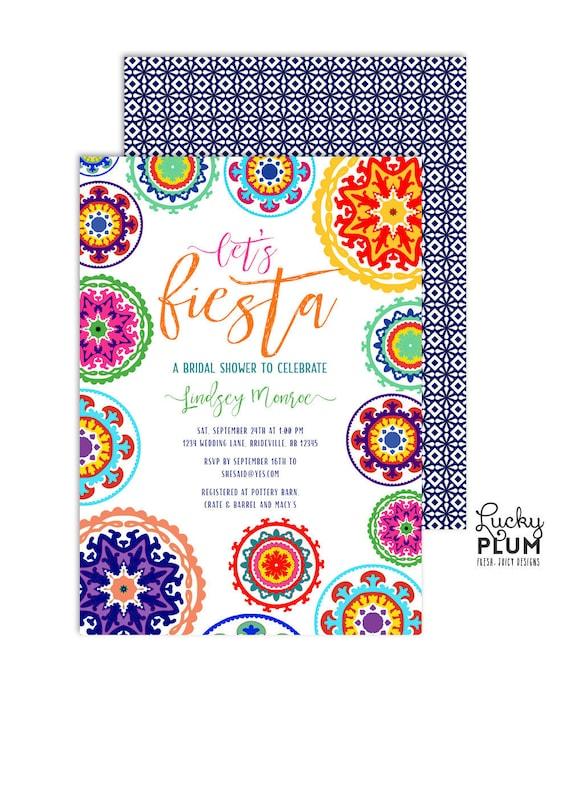 Fiesta Bridal Shower Invitation Fiesta Engagement Invitation