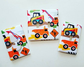 Trucks Light Switch - Outlet Cover- Switch Plate Cover-Nursery Decor- Light switch cover- boy room decor-