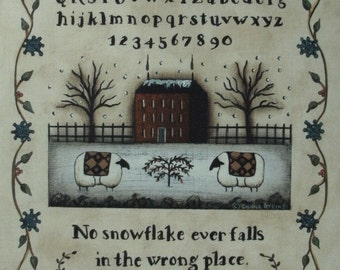 Set of 4 Seasonal Folk Art Quotation Sampler Prints. Spring, Summer, Autumn, Winter. Country Farmhouse Primitvie Farmhouse decor.