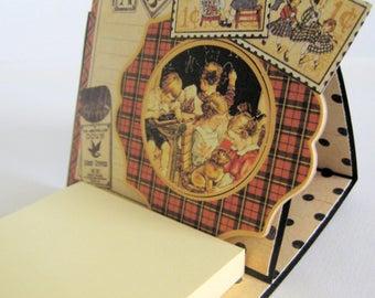 Teacher's gift - Thank you gift - desk accessory - sticky note holder - Stocking Stuffer