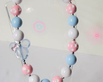 Girls Chunky Bubblegum Necklace, Chunky Necklace, Toddler Necklace, Little Girls Jewelry, Bubblegum Necklace, Girls Necklace
