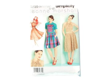 2000 Sewing Pattern - Simplicity 1755 - Leanne Marshall Party Dress