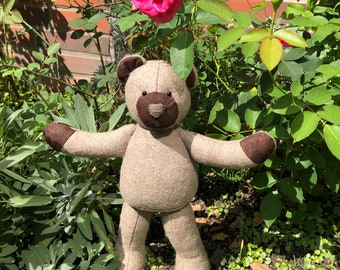 Classic Patchwork Teddy Bear, Light Brown