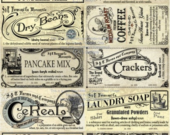 Vintage Pantry Labels- Set 2