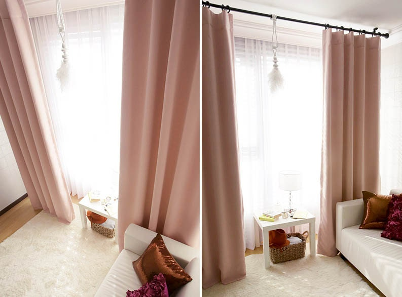 girl panel lace inch curtain mint by insulated blackout kids thermal sweety for pink product curtains girls linen melodieux room