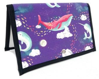 Knitting Crochet Pattern Holder - Pattern Wallet Chart Keeper - Dream Whales