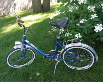 SaLe Retro Blue Faehnrich Super Star German Folding Bicycle SEE SHIPPING DESCRIPTION