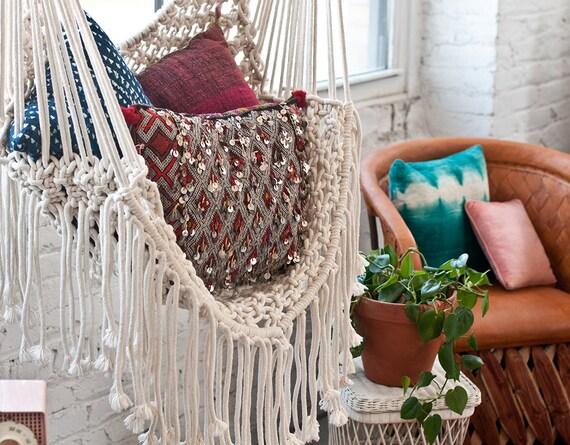 Hippy Hammock Macrame Chair
