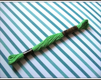 Cotton embroidery FLOSS stranded RUBI 318 Green