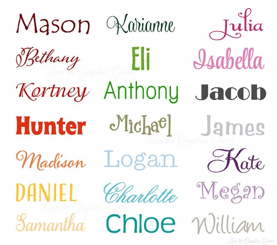 Name Wall Decal Small Wall Door Decal For Nursery Bedroom