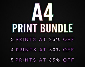 A4 Print Bundle - the more you buy, the more you save!