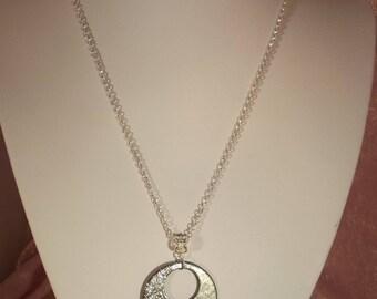 Cool on copper enamel pendant