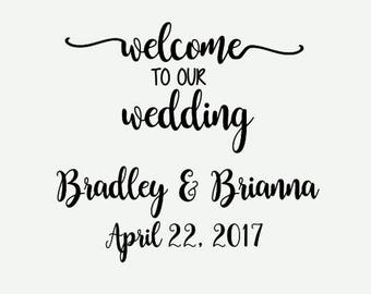 wedding svg - svg file - svg files - svg - wedding svg - welcome to our wedding