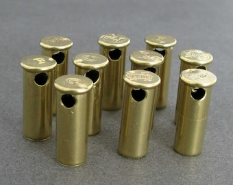 22 Caliber Bullet Beads - Side Drilled Shell Casings - Lot of 10 - Drilled