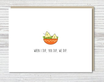 Just Because Card | Friend Card | Funny Card | Dippin' Party