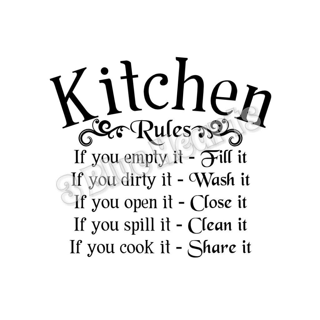 Download Kitchen Rules SVG dxf Studio Cutting Board SVG dxf Studio