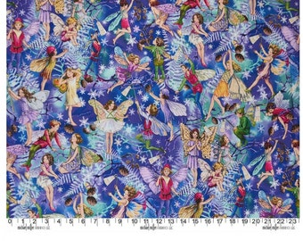 Flower Fairy Enchanted Blue Cicely Mary Barker 1 yard