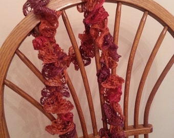 fall colors curly scarf