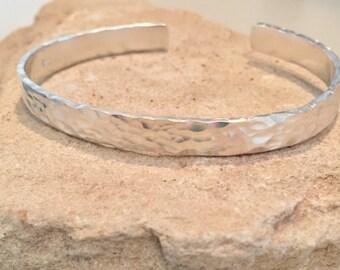 Hammered sterling silver cuff bracelet, cuff bracelet, hammered sterling silver bracelet, sterling silver bangle, hammered bangle bracelet