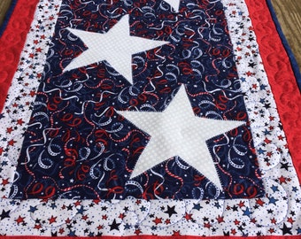 Patriotic Table Runner, Stars, Red, White and Blue