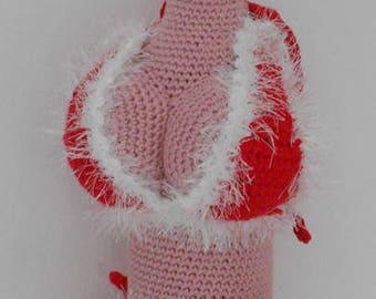 Crochet Pattern Wine bottle cozie Christmas Bikini 1  - Haakpatronen Wijnfles jasje Kerstbikini 1