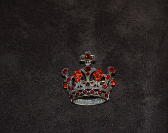 Vintage Victorian  Crown Tiara  Brooch / Free Shipping