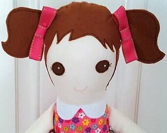 Amelia - 20 inch cloth doll