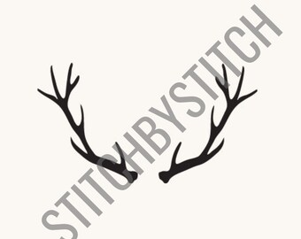 Antlers SVG, Set of 4 vectors, Cut File for Silhouette and Cricut machines, instant download, hunting sv deer antlers