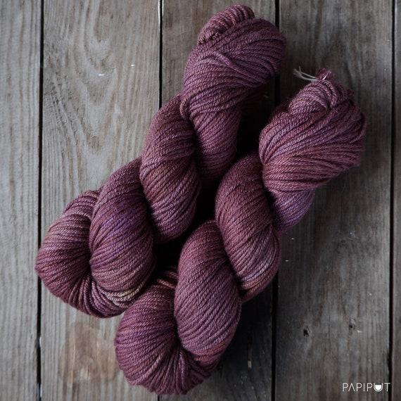 Recommended dyers - Papiput Yarn's Silky Merino Aran, colorway