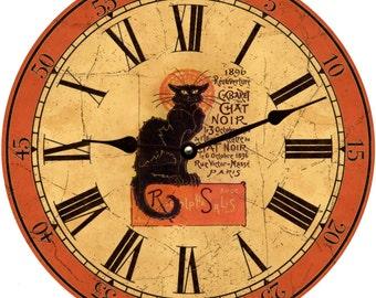 Chat Noir Clock- Halloween Clock